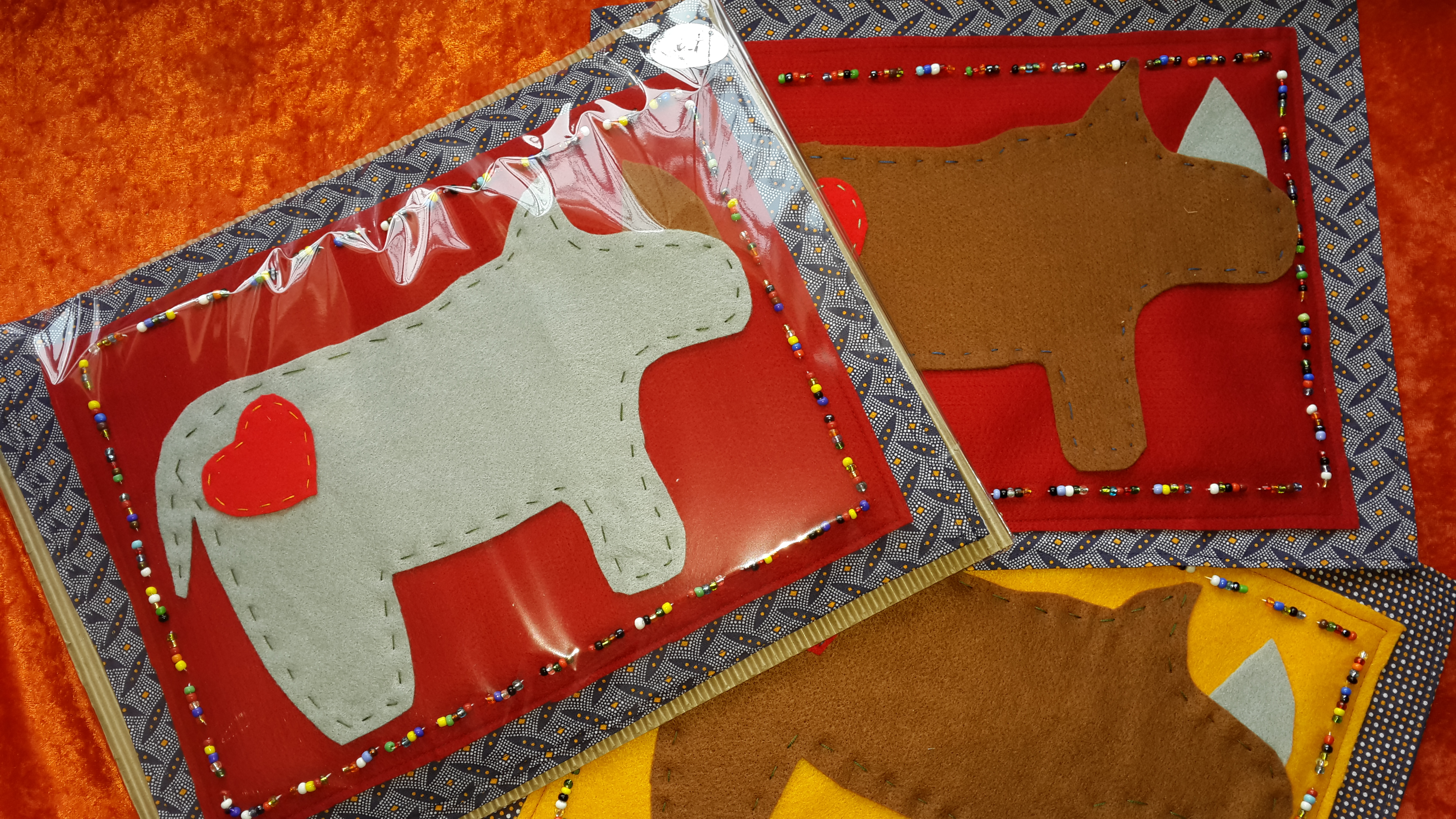 Felt Placemats (4) - Love the Rhino